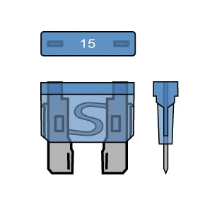 PACK OF 50 STANDARD BLADE FUSES 15A