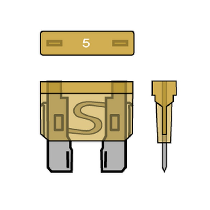 PACK OF 50 STANDARD BLADE FUSES 5A