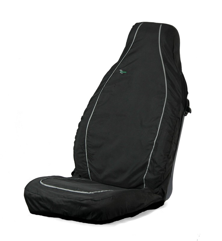 AIR BAG COMPATIBLE SEAT COVER- BLACK