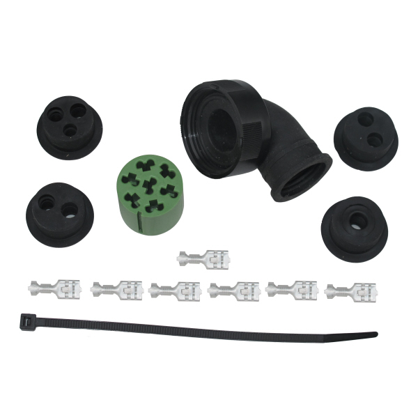7 PIN CONNECTOR PLUG ASPOCK TAIL LAMPS [GREEN]