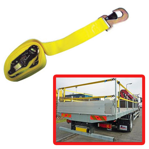 ANTI-FALL SIDE GUARD STRAP FOR FLATBED TRAILERS / LORRIES 6MTR