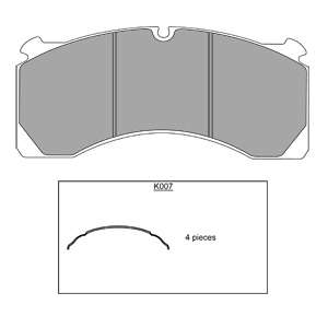 MERITOR ROR DX195 BRAKE PAD SET - BELACO