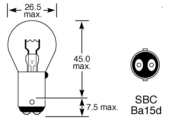 24V 21W DOUBLE CONTACT BULB