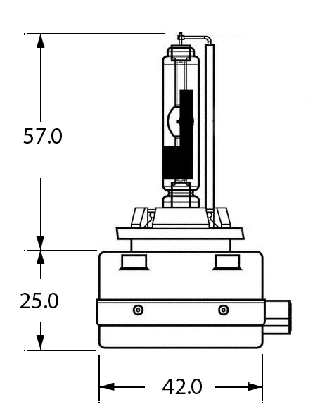 42V 35W D3R (REFLECTOR) GAS DISCHARGE BULB