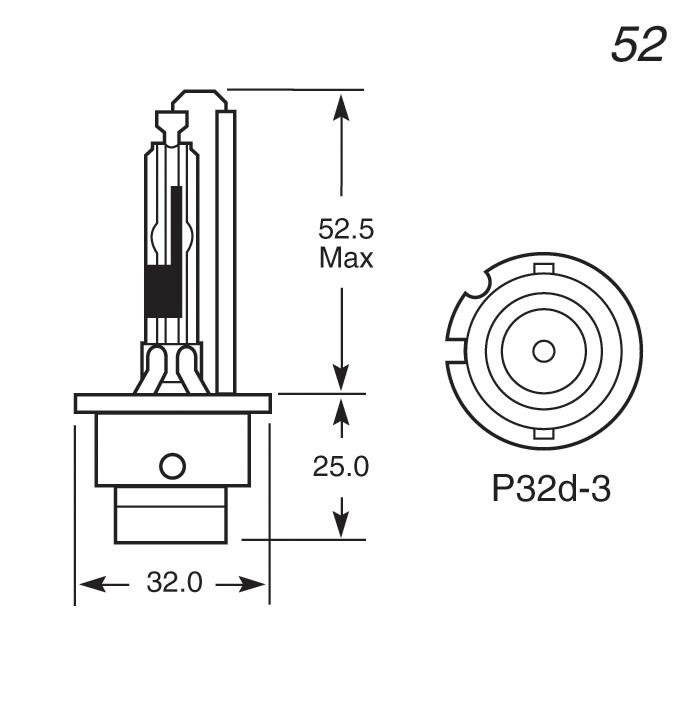 42V 35W D4R (REFLECTOR) GAS DISCHARGE BULB