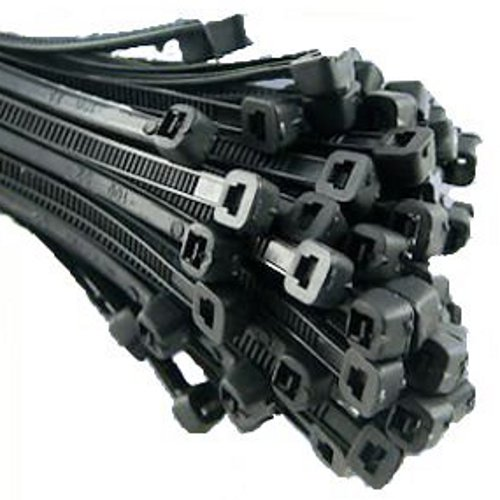 100 CABLE TIES BLACK 200 X 4.8MM