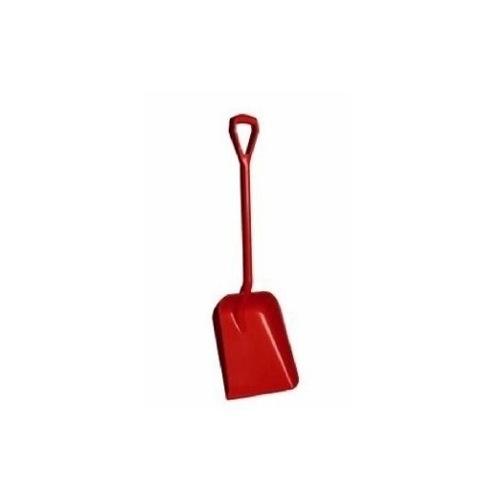 SHOVEL 1 PIECE D HANDLE RED PLASTIC