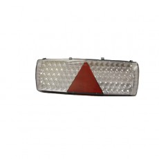 6 Function LED Commercial Trailer Rear Combination Lamp - Stop/Tail/DI/Fog/Ref/SM - 24V - RH