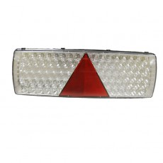 6 Function LED Commercial Trailer Rear Combination Lamp - Stop/Tail/DI/Fog/Ref/SM - 24V - LH