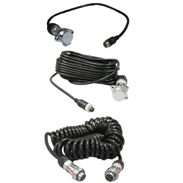 Reverse Camera Trailer Connector Kit 3.5M Suzi Coiled Cable