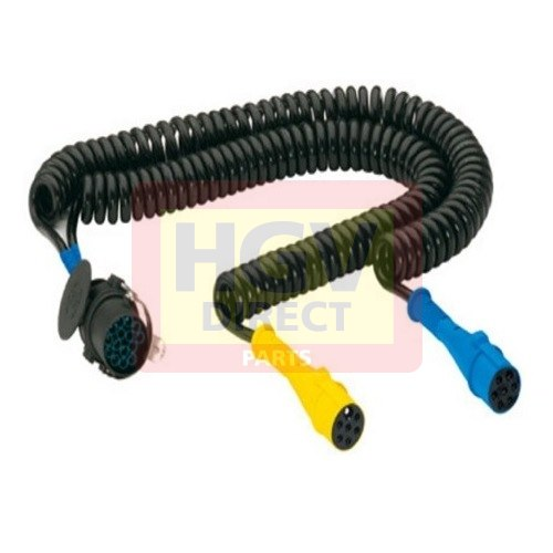 MERCEDES ELECTRICAL COIL 2X7PIN - 1X15PIN 4.5MTR SPECIAL PLUG