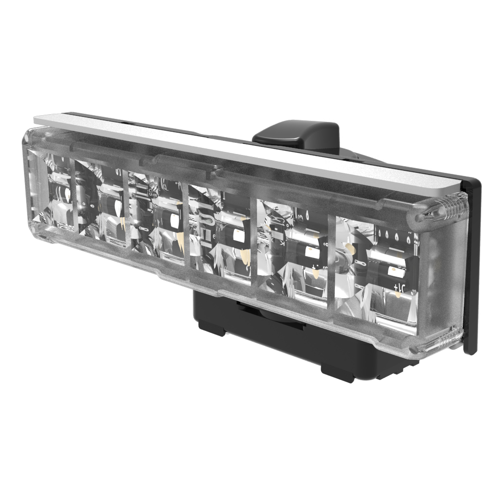 LED Warning Module: Axios, directional, 12-24VDC, clear