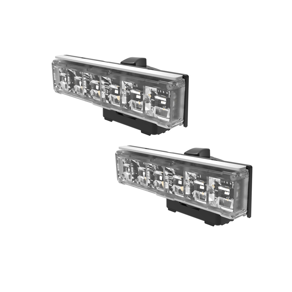 LED Warning Module: Axios, directional, 12-24VDC, clear, x 2