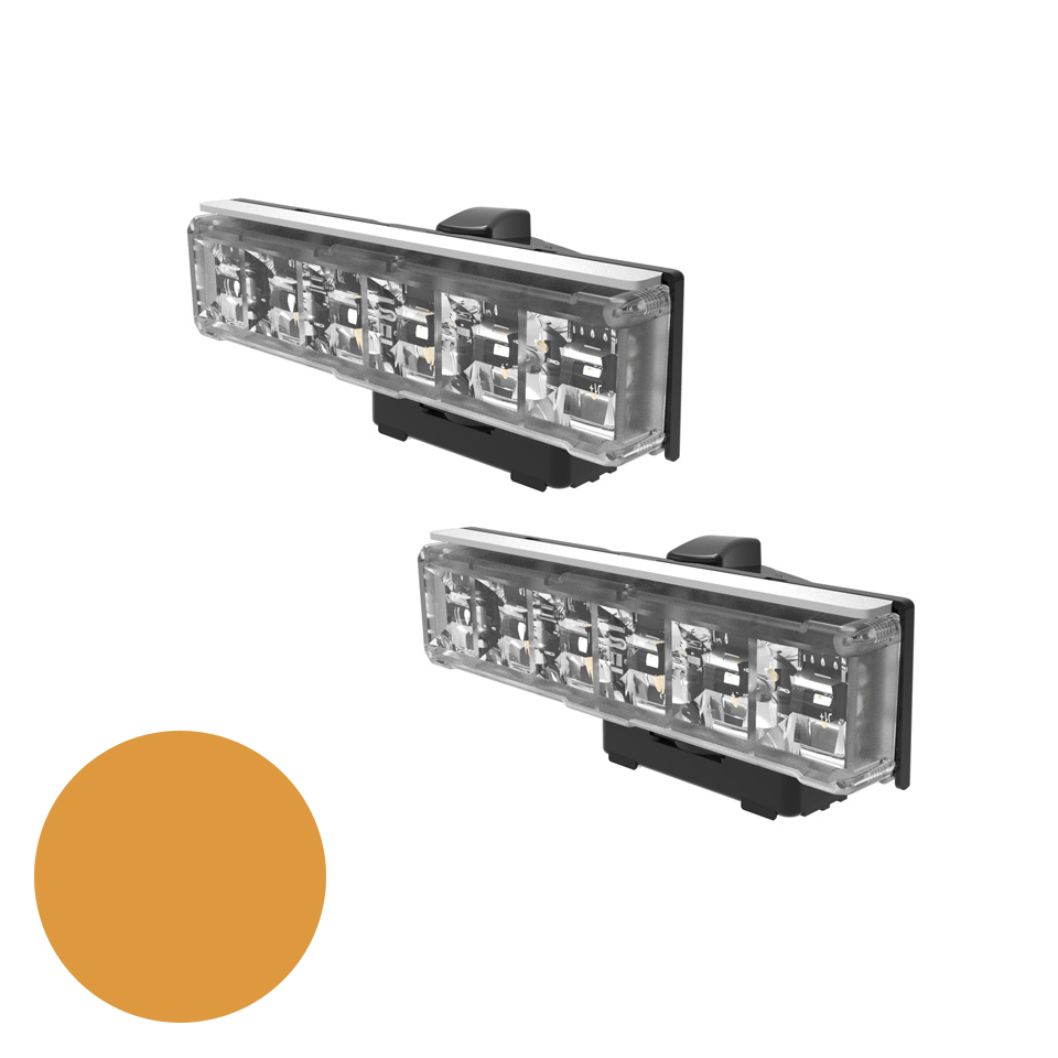 LED Warning Module: Axios, directional, 12-24VDC, amber, x 2