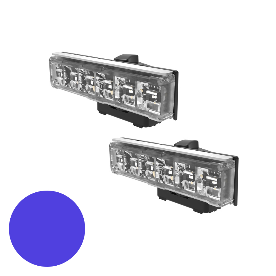 LED Warning Module: Axios, directional, 12-24VDC, blue, x 2