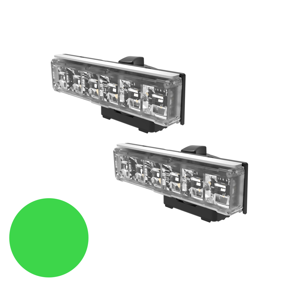 LED Warning Module: Axios, directional, 12-24VDC, green, x 2