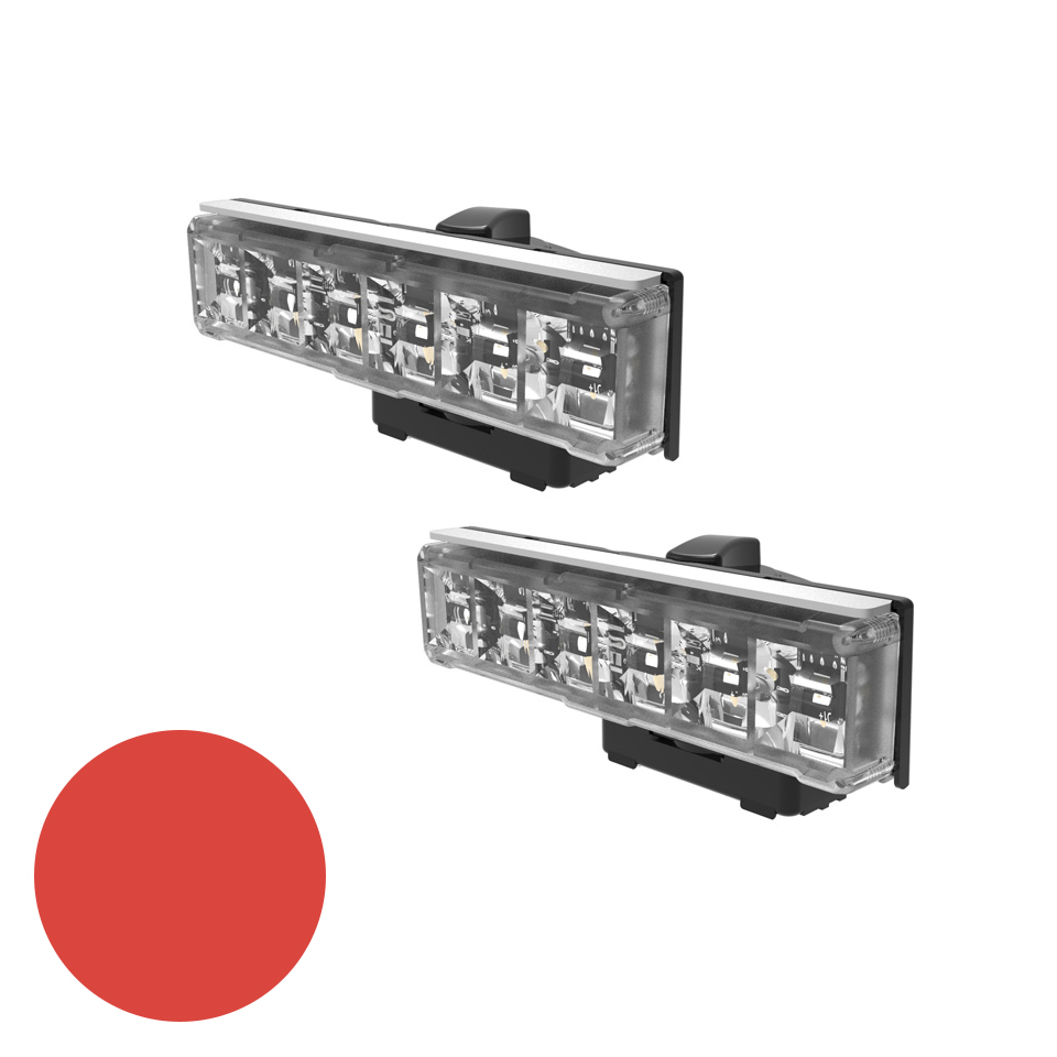 LED Warning Module: Axios, directional, 12-24VDC, red, x 2