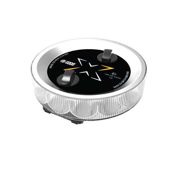 LED Warning Module: Axios, 360º beacon, 12-24VDC, clear