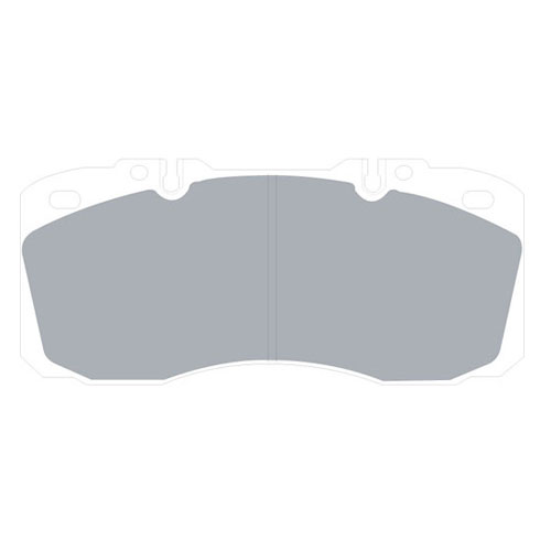 IVECO EUROCARGO TECTOR 2007 ON BRAKE PAD SET FRONT