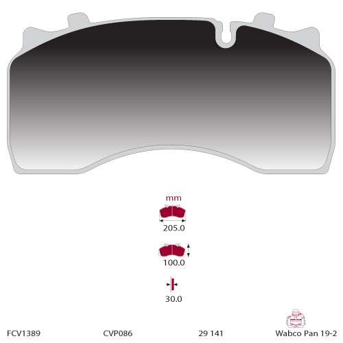 TRUCK HGV BRAKE PADS SET FCV1389