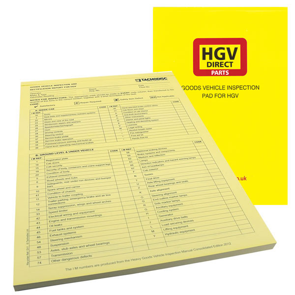 INSPECTION PAD FOR HGV GOODS VEHICLES