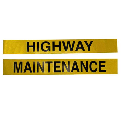 HIGHWAY MAINTENANCE MARKER BOARD VINYL SELF-ADHESIVE SET OF 2