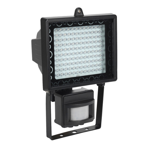 LED FLOODLIGHT WITH WALL BRACKET AND PIR SENSOR - 230 VOLT