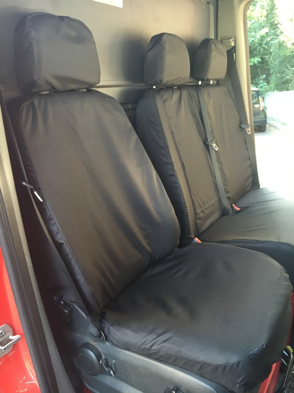 SPRINTER CRAFTER 2010 ONWARDS FRONT SINGLE SEAT COVER- BLACK