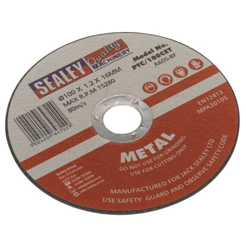 CUTTING DISC - 100 X 1.2mm - 16MM BORE