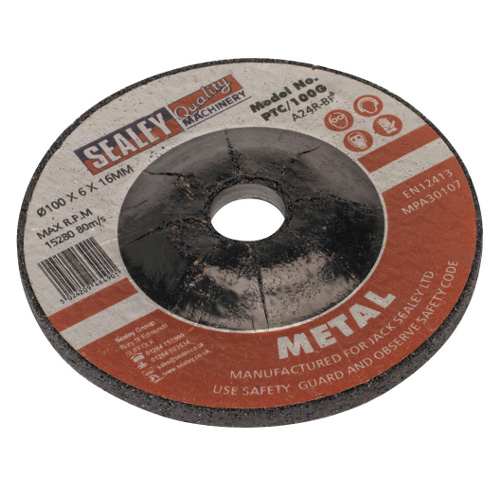 GRINDING DISC - 100 X 6mm - 16mm Bore