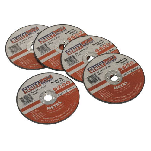 Cutting Disc 75 x 2 x 10mm Pack of 5