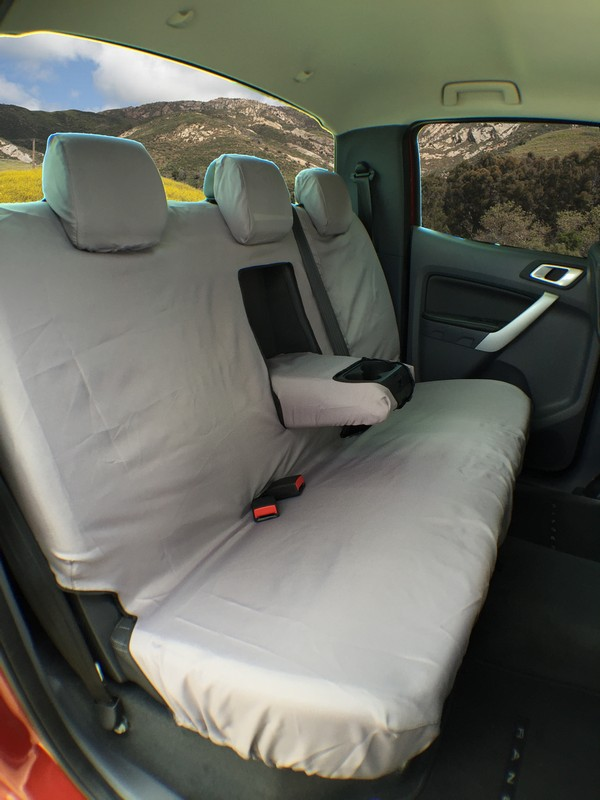 FORD RANGER & ISUZU D MAX (2012 ONWARDS) REAR SEAT COVER SET- BLACK