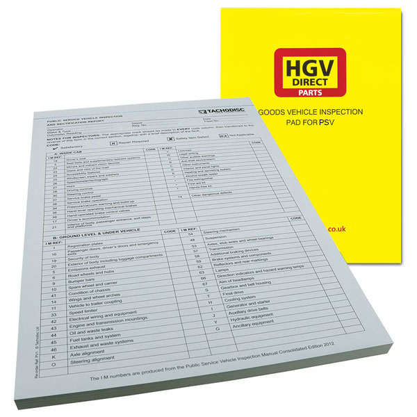 INSPECTION PAD FOR PCV PSV COACH BUS
