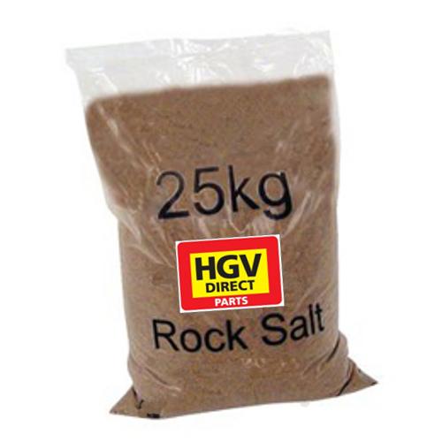 PALLET OF 40 BAGS OF 25KG BROWN ROCK SALT