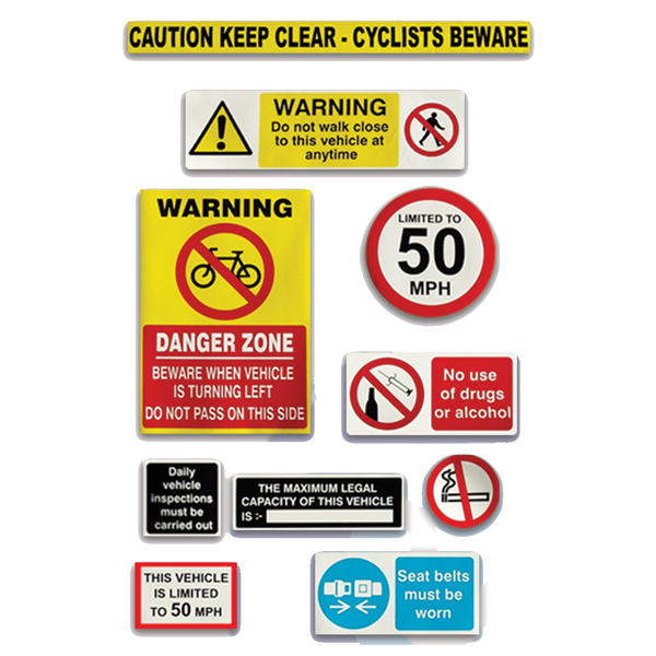 COMMERCIAL VEHICLE HEALTH AND SAFETY PACK - CYCLISTS BEWARE