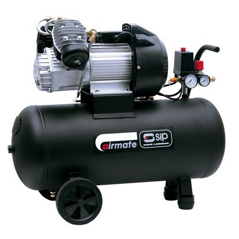 SIP Airmate TN3/50-D Air Compressor (V-Twin, Direct Drive, Oil Lubricated)