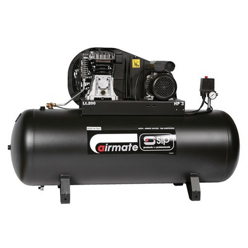 SIP Airmate 3HP/200-SRB Air Compressor