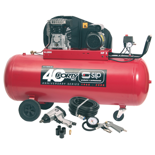 Forty-TN3HP/200-SRB Compressor with FREE 7 Piece Kit