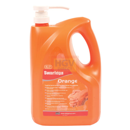 DEB Swarfega Orange Hand Cleaner 4LTR PUMP