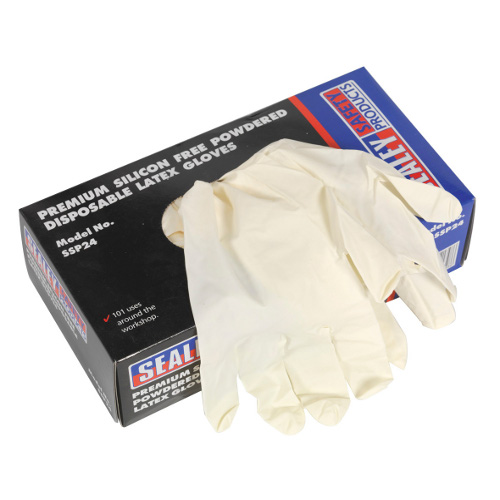 LATEX DISPOSABLE GLOVES LG/XLG PACK OF 100