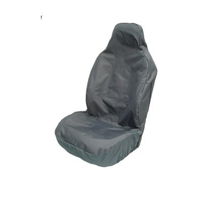 SINGLE SEAT C/W INTEGRAL SEAT BELT COVER BLACK