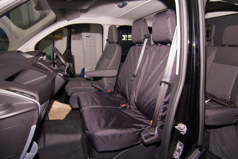 TRANSIT CUSTOM DOUBLE SEAT COVER- BLACK