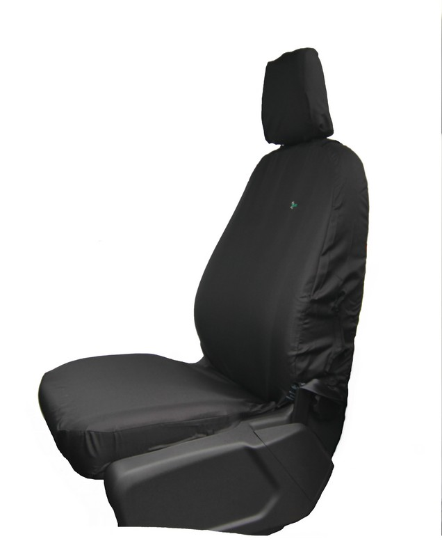 Custom Ford Transit (2014 onwards) Front Seat Cover- Single Black.