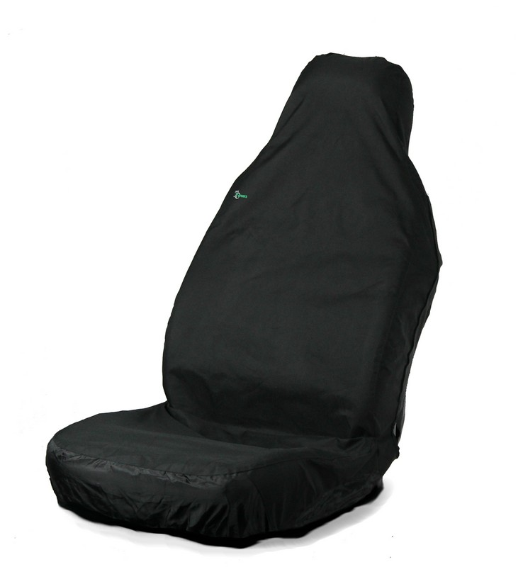 3D STRETCH UNIVERSAL FRONT SEAT COVER- BLACK