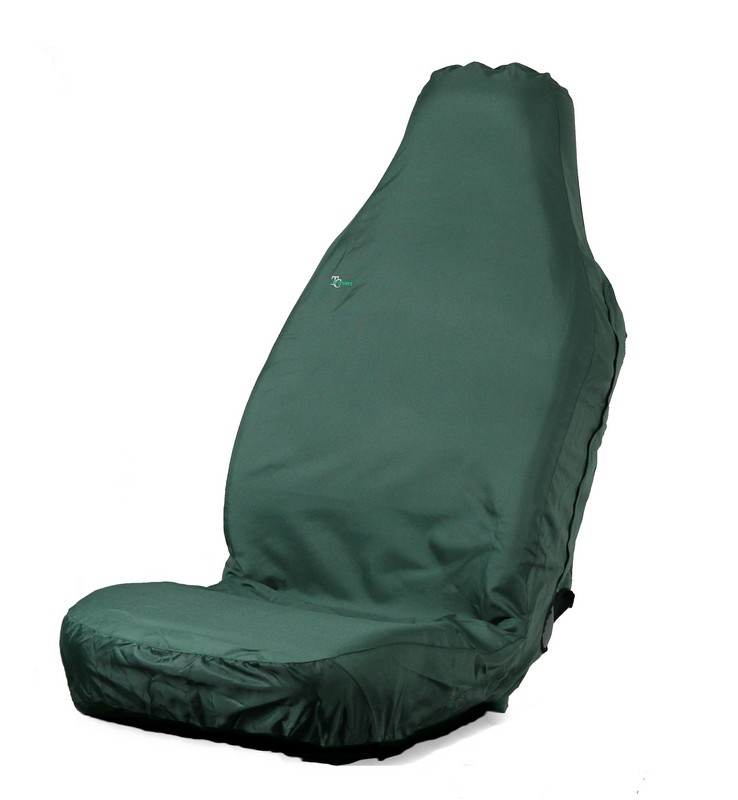 3D STRETCH UNIVERSAL FRONT SEAT COVER- GREEN