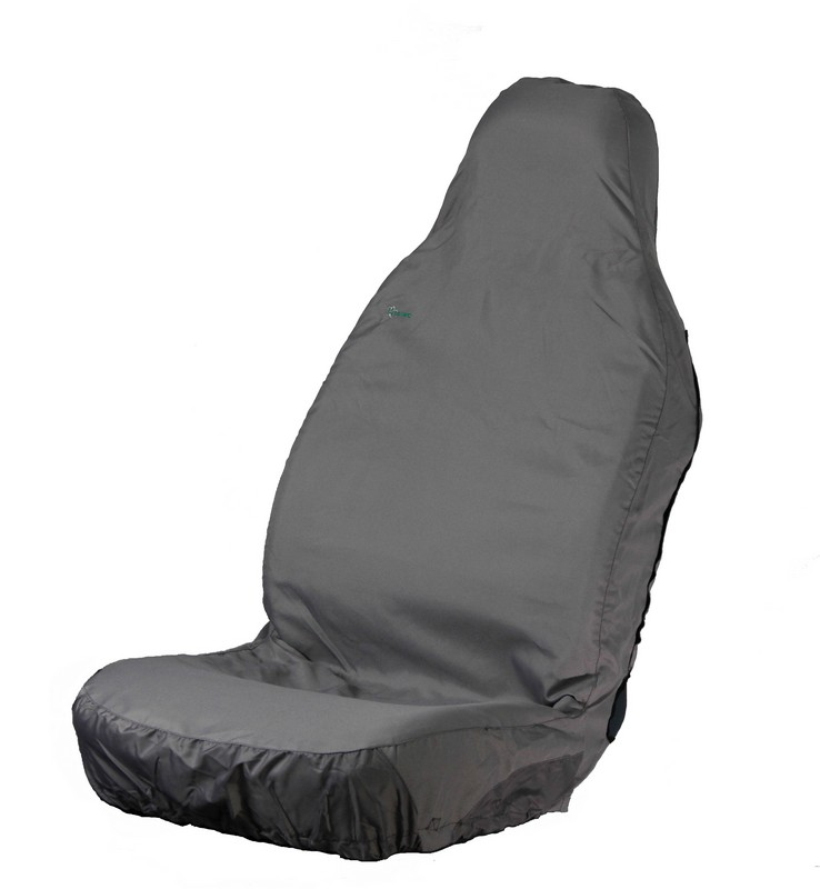 3D STRETCH UNIVERSAL FRONT SEAT COVER- GREY