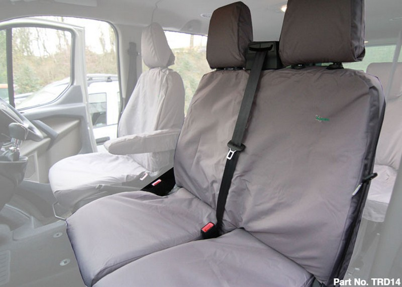 Ford Transit Double Front Seat Cover (2014 onwards)- Black