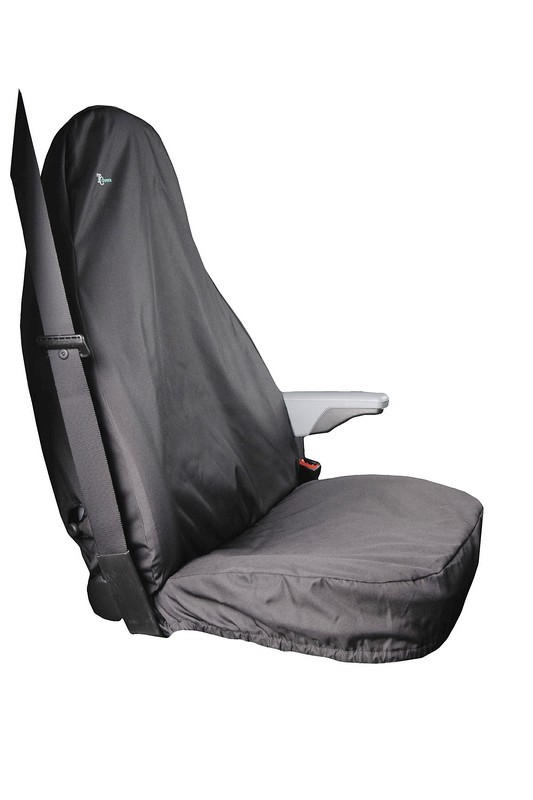 Single Front Seat Cover for Ford Transit (up to 2014)- Black.