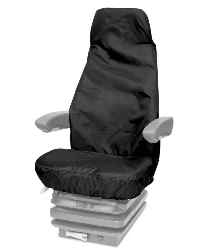 UNIVERSAL HIGH BACK PLANT, TRACTOR AND CONSTRUCTION SEAT COVER- BLACK