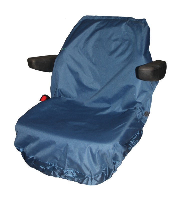 UNIVERSAL TRACTOR LARGE SEAT COVER- BLUE